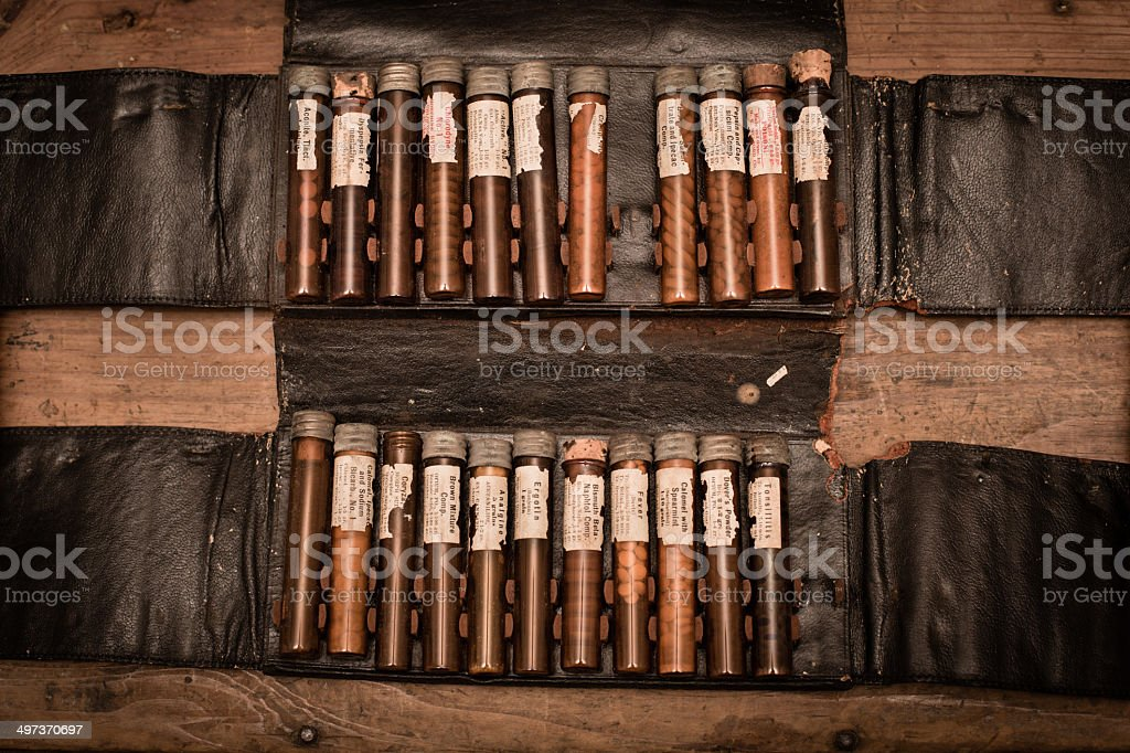 Vintage Doctor's House Call Kit royalty-free stock photo