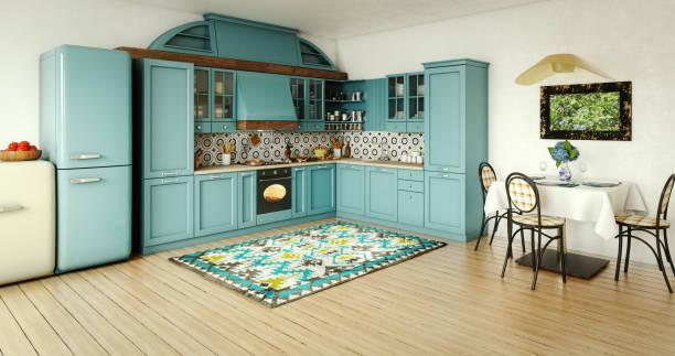 Vintage Domestic Kitchen Interior stock photo