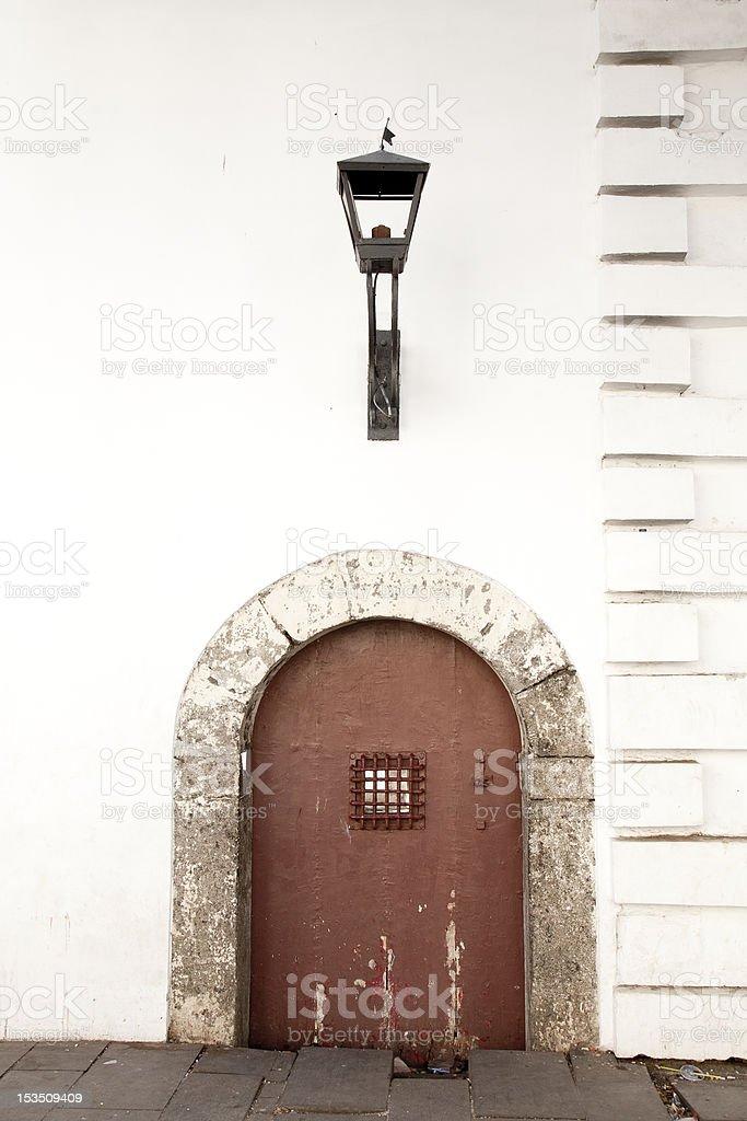 Vintage porte et lampe - Photo