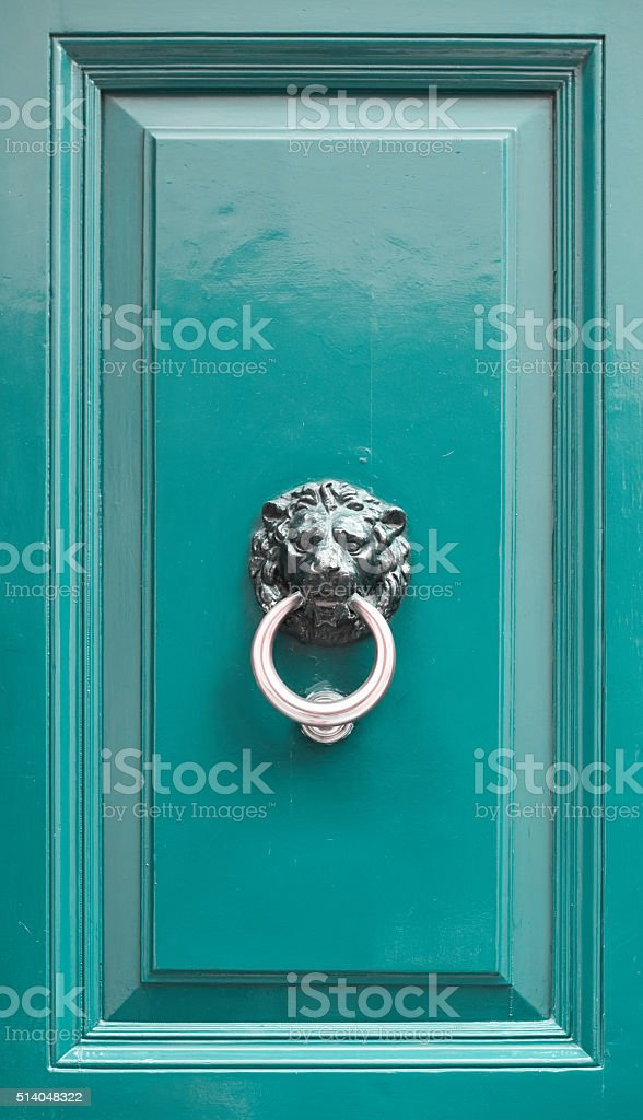 vintage door handle stock photo