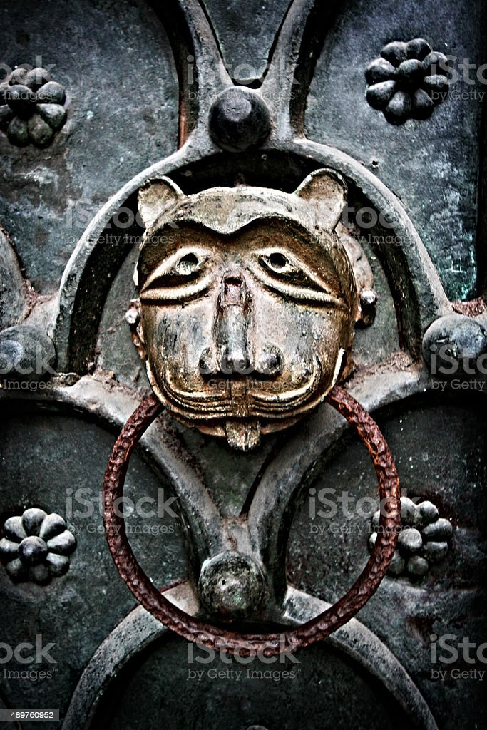 Vintage Door Knocker stock photo