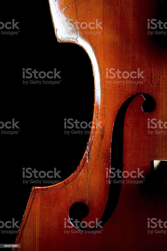 Vintage double bass stock photo