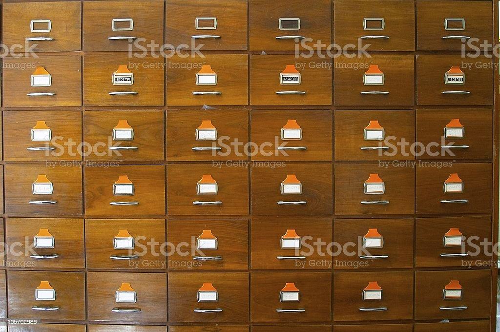 Vintage drawer  Bureaucracy royalty-free stock photo