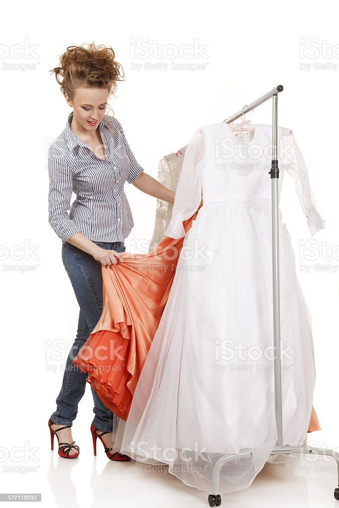 Vintage dresses stock photo