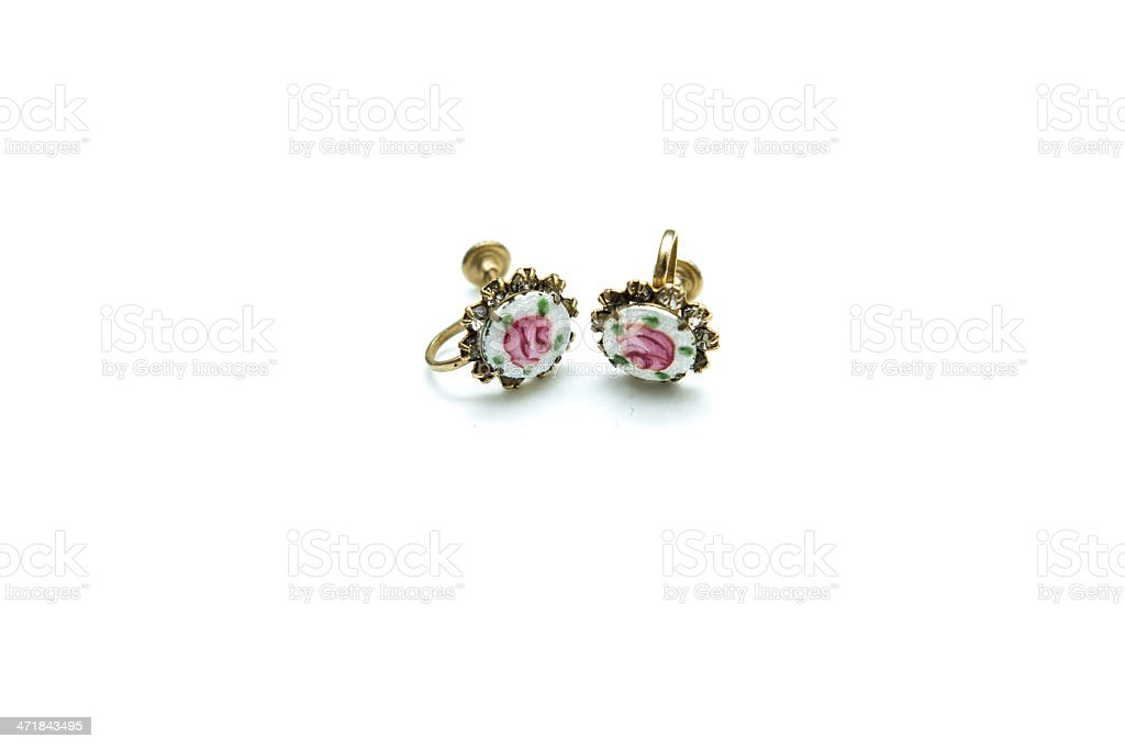 Vintage Earring royalty-free stock photo