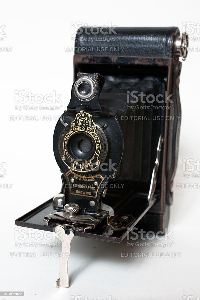 Vintage Eastman Kodak No. 2 Folding Autographic Brownie Camera stock photo