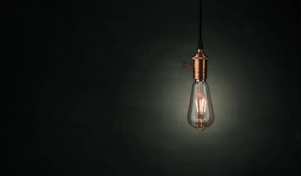Vintage Edison ampoule avec espace copie - Photo