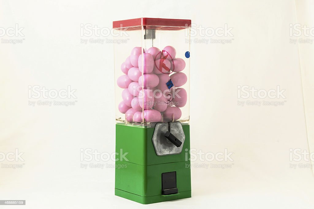 Vintage Eggs Slot Machine stock photo
