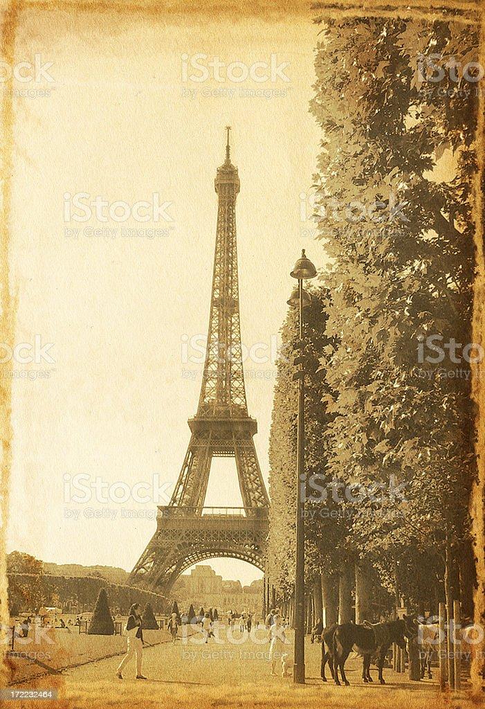 Vintage Eiffel Tower royalty-free stock photo