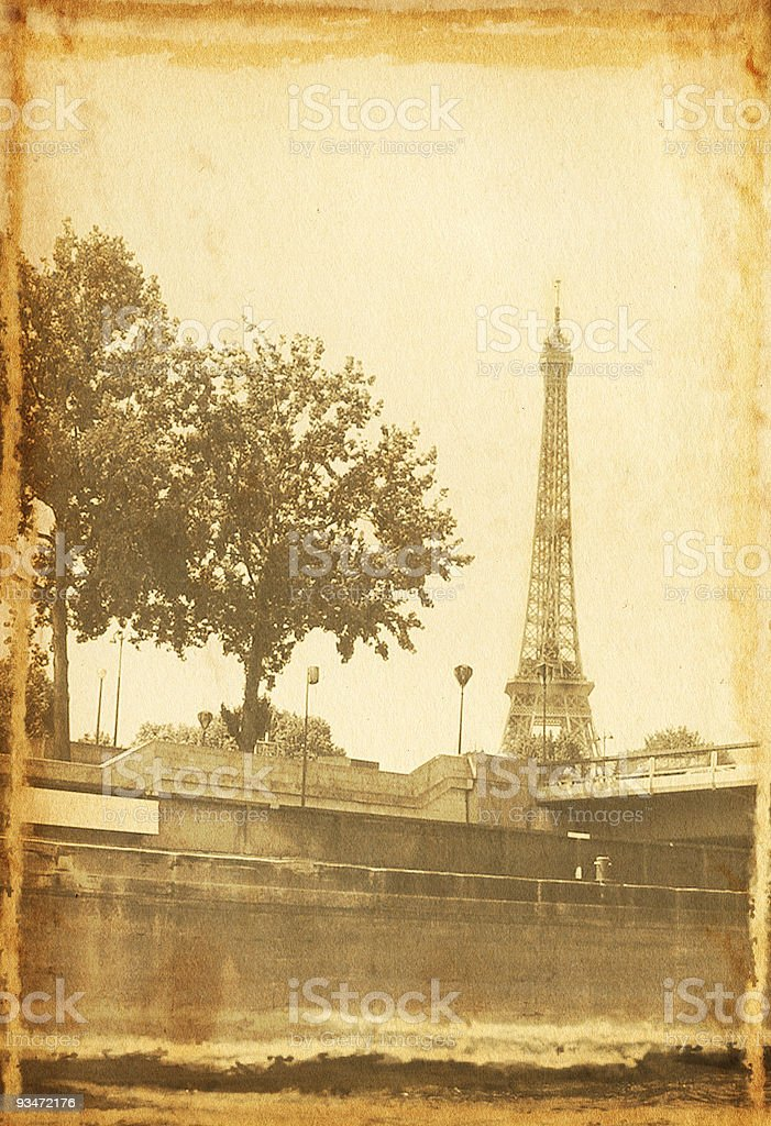 Vintage Eiffel Tower royalty-free stock photo