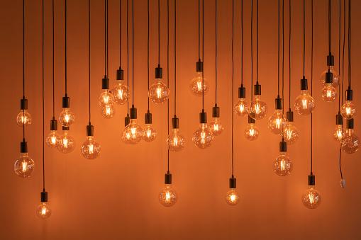 Vintage electric lamps