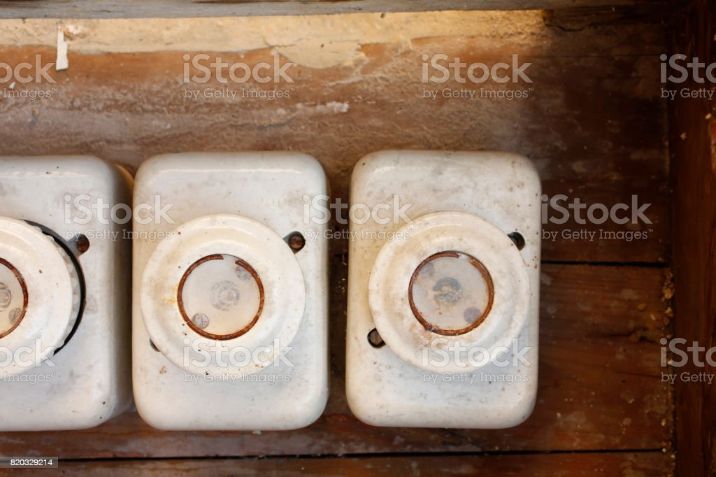 vintage electrical fuse power supply box the old ceramic 160a fuses on a  wall diy royalty