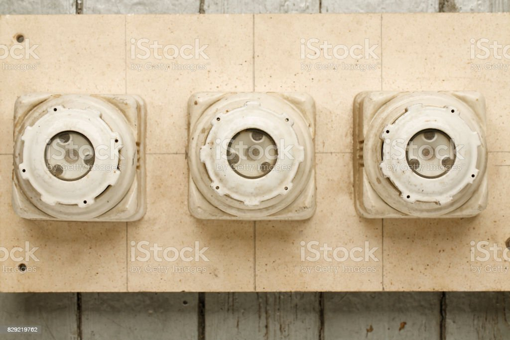vintage electrical fuse power supply box the old ceramic 160a fuses rh istockphoto com