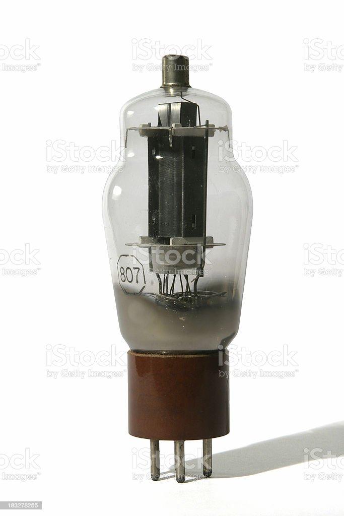 Vintage electronic valve or vacuum tube royalty-free stock photo