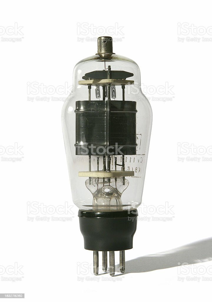 Vintage electronic valve or vacuum tube royalty-free stock photo