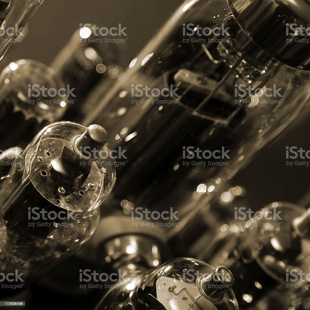 Vintage electronic valves royalty-free stock photo
