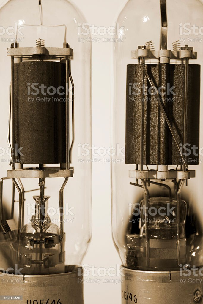 Vintage electronic valves royalty-free stock photo