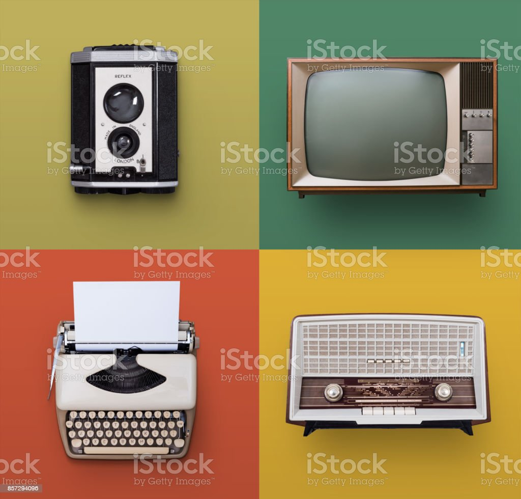 Vintage electronics stock photo