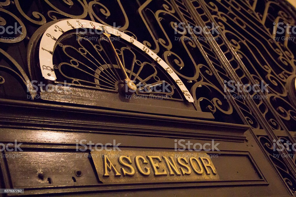Vintage ascensor - foto de stock