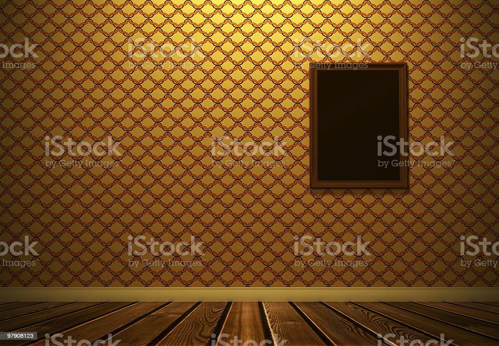 Vintage empty room royalty-free stock photo