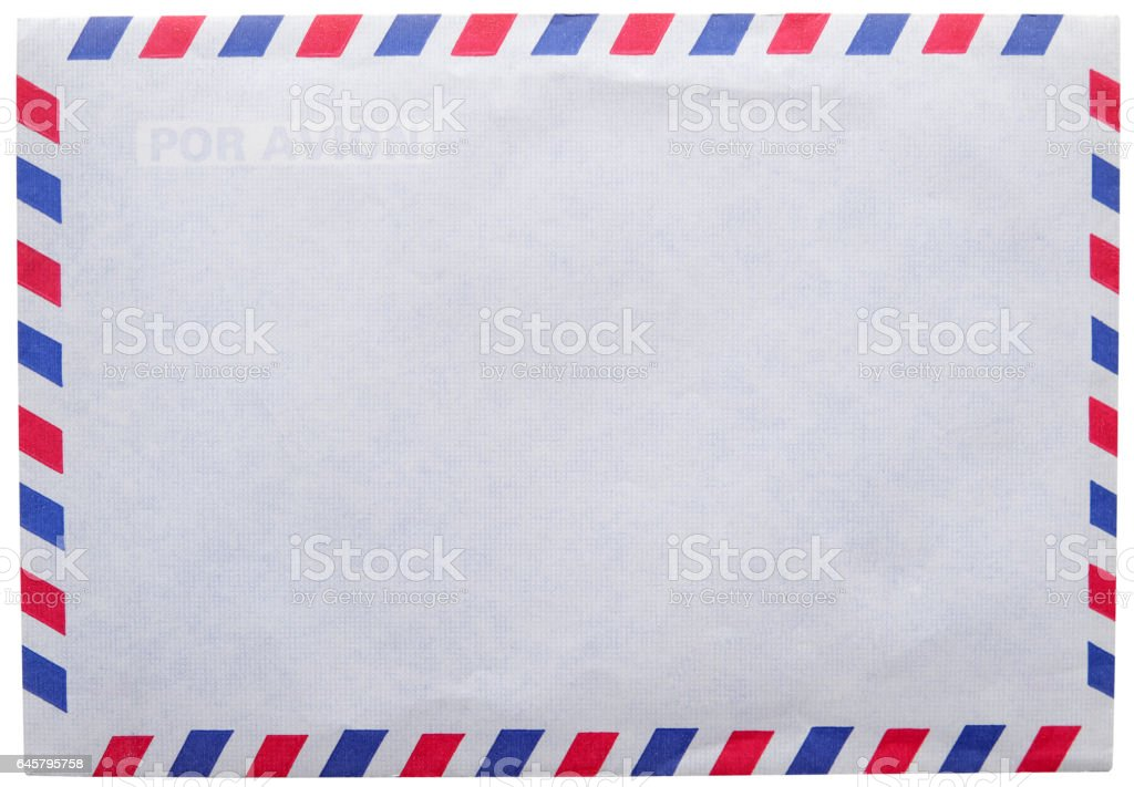 vintage envelope airmail stock photo