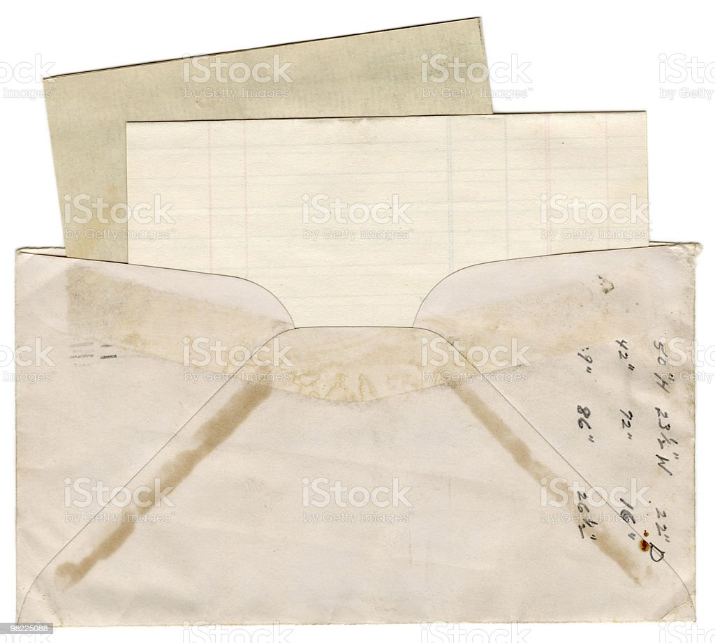Vintage Envelope and Note Paper XXL royalty-free stock photo