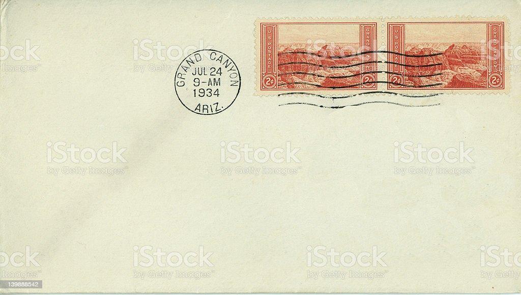 vintage envelope royalty-free stock photo