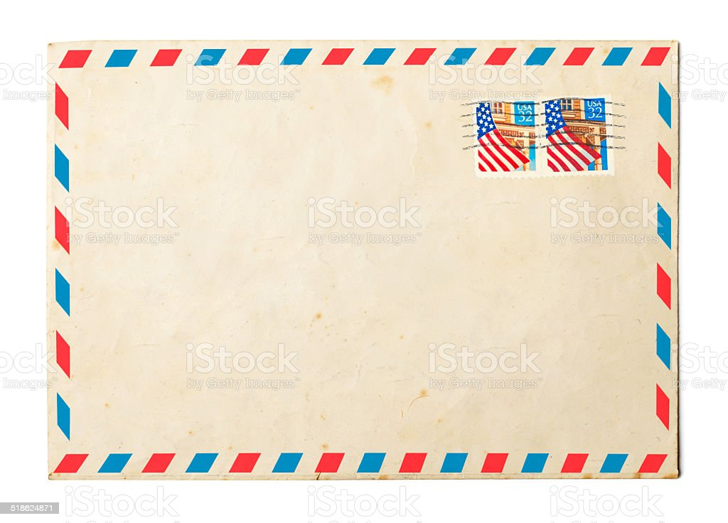 Vintage Envelope stock photo