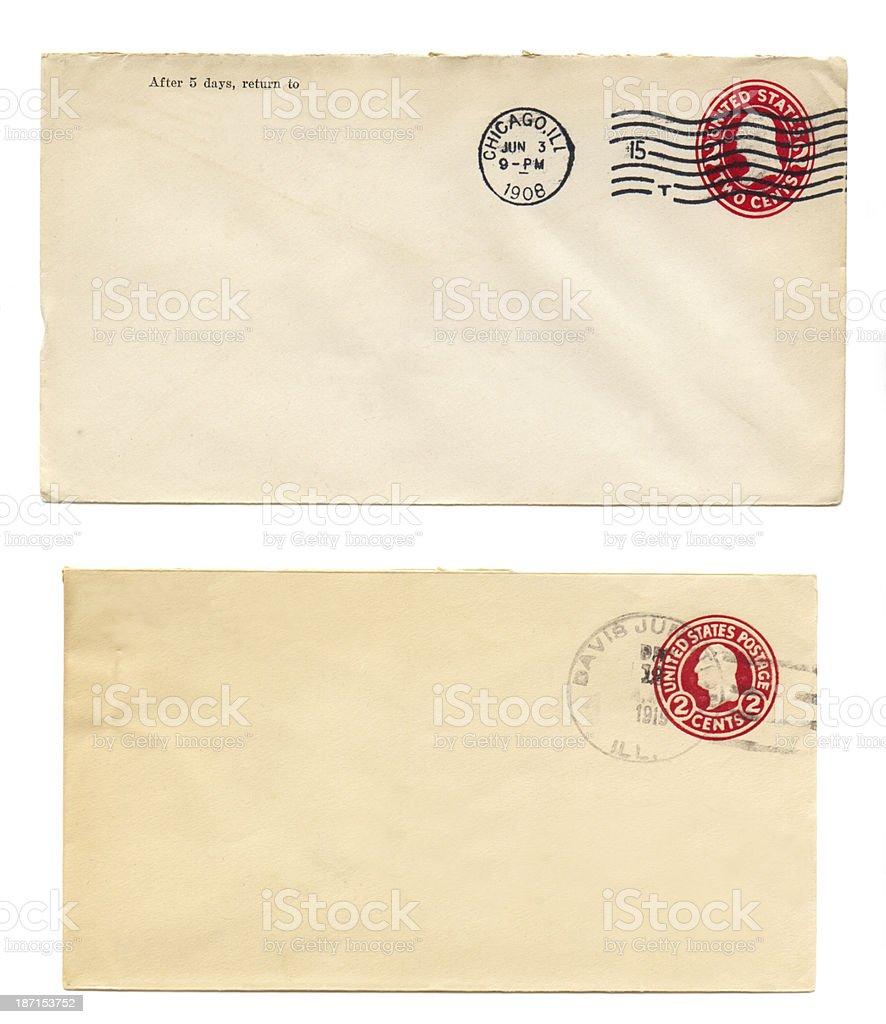 Vintage envelopes stock photo