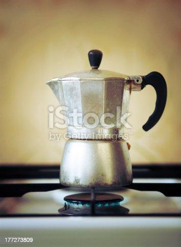 old fashioned Italian espresso coffee maker