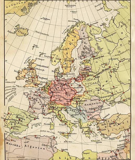 Vintage Europe Map stock photo
