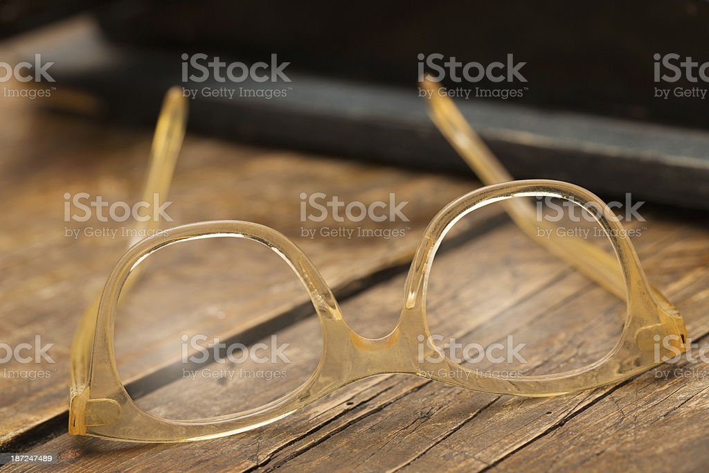Vintage eyeglasses royalty-free stock photo