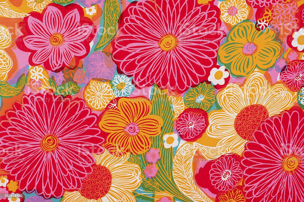 Vintage Fabric Background SB26 1962-1972 stock photo