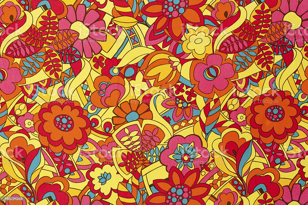 Vintage Fabric Background SB51 1962-1972 stock photo