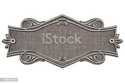 1058533662 istock photo Vintage fabric frame isolated on white background 1058534914