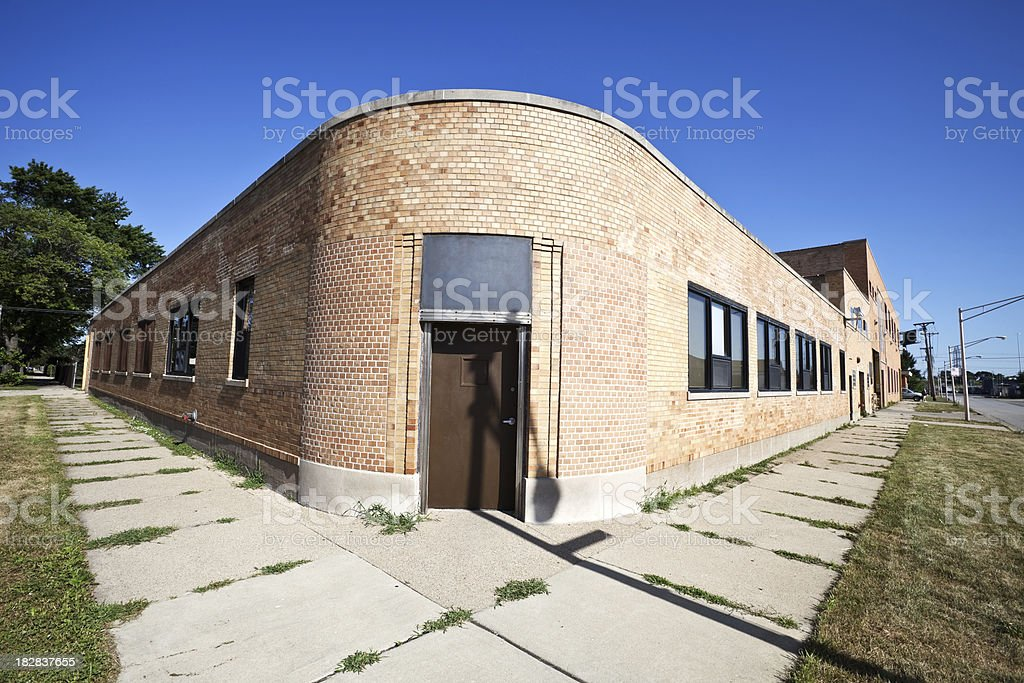Vintage Factory Building in Garfield Ridge, Chicago royalty-free stock photo