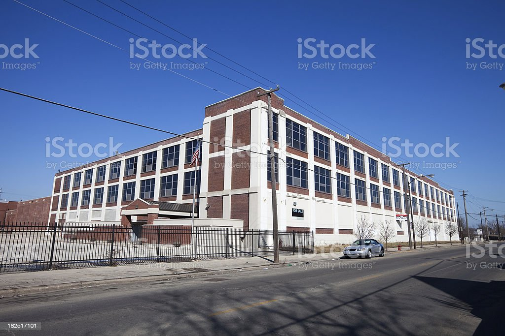 Vintage Factory in Brighton Park,  Chicago royalty-free stock photo
