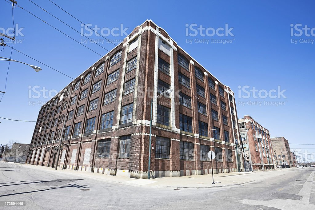 Vintage Factory in Chicago stock photo