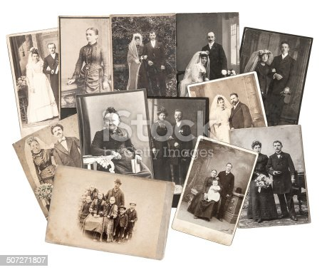 478384809 istock photo vintage family and wedding photos. original old pictures 507271807