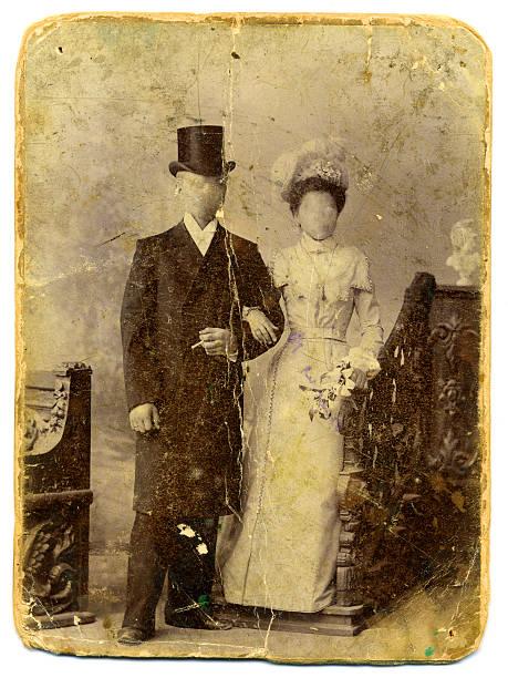 Vintage family photo stock photo
