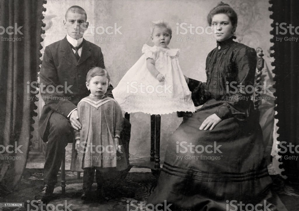 Vintage Family Photograph stock photo