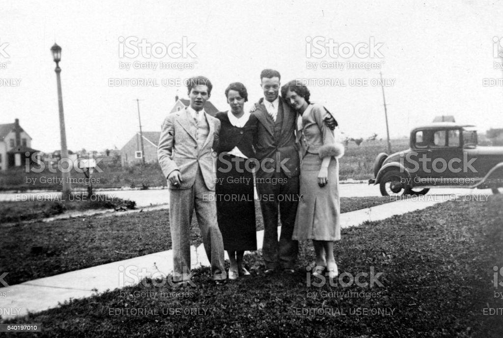 Vintage Family royalty-free stock photo