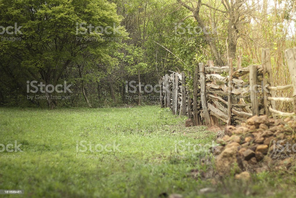 Vintage farm stock photo
