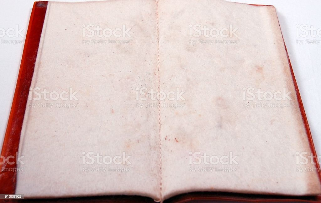 Vintage Felt Paged  Book royalty-free stock photo