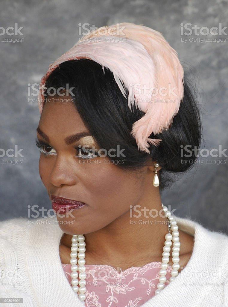 Vintage Female Fashion Model stock photo