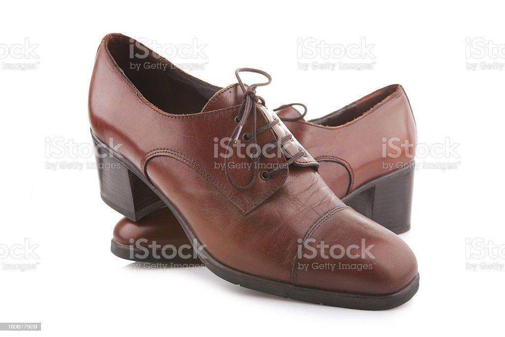Vintage female shoes royalty-free stock photo