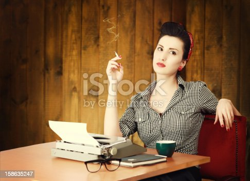istock Vintage Female Writer 158635247