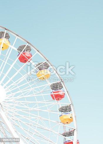 Vintage ferris wheel in California