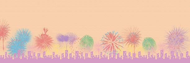 vintage/fireworks/skyline - frohes neues jahr stock-fotos und bilder