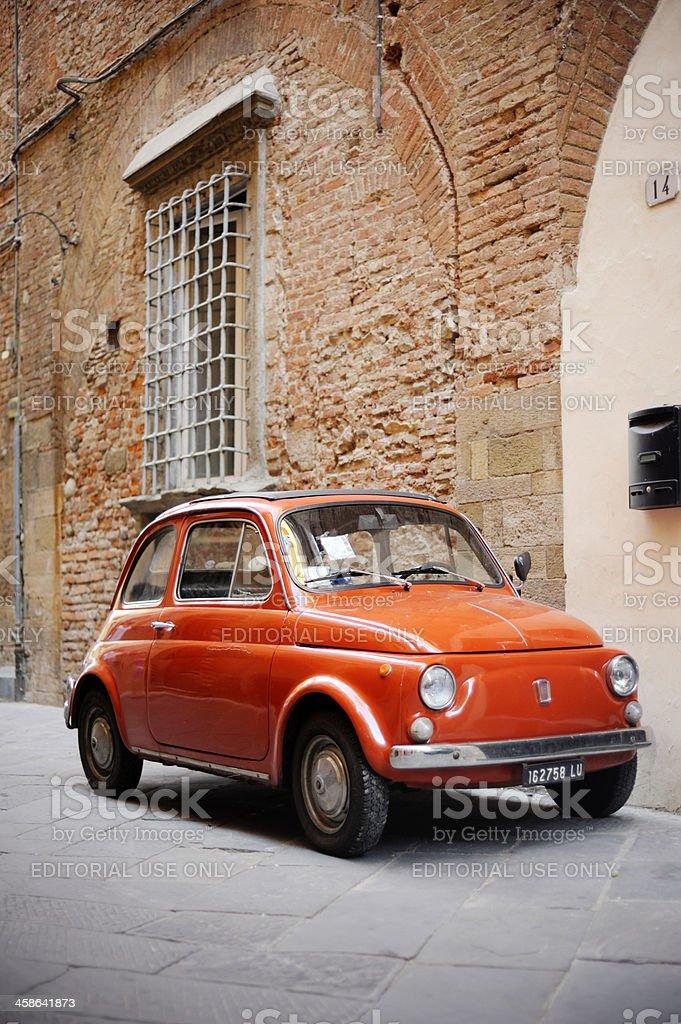 Vintage Fiat 500 royalty-free stock photo